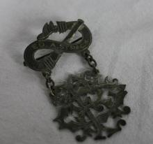 Antique American Sterling Silver Fireman's Pin