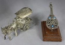 Two FIgural Silver Table Articles