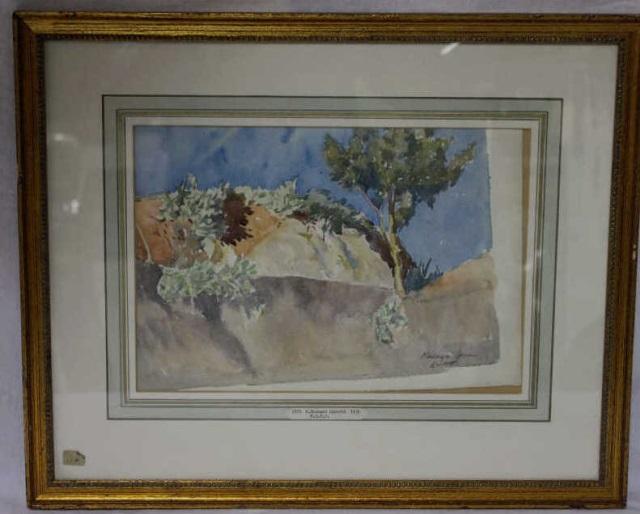 E. Bernard Lintott Watercolor on Paper - Landscape