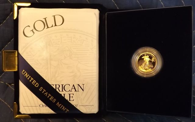2002 American Eagle, 1/10 oz. Gold Bullion Coin in Blue Case