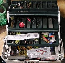 Tackle box and fishing tackle .