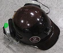 MSA Skul hardhat with ear protection .