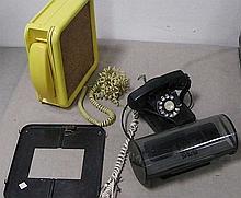3 retro telephones .