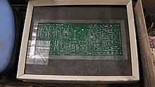 Framed computer board .