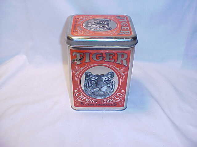 Bright Tiger chewing tobacco tin