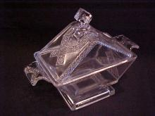 Early Patternglass Lidded Candy Dish