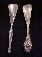 Lot of 2 Sterling Silver Handled Shoe Horn