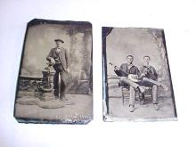 Lot of 2 Early Tin Types
