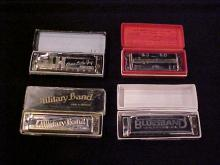 Lot of 4 Harmonicas
