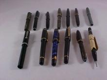 Lot of 12 Fountain Pens and Pencil
