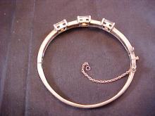 Sterling Silver Bracelet with 3 Gemstones