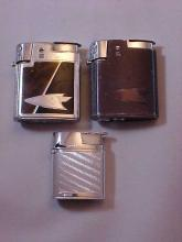 Lot of 3 Ronson Lighters