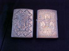 Lot of 2 Sterling Zippo Lighters