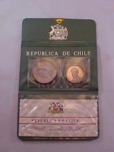 Lot of 2 Coins from Chile
