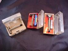Lot of 3 Razors in Case