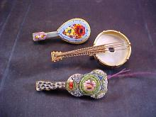 Lot of 3 Enamel Bead Pins