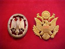 Lot of 2 Military Hat Pins