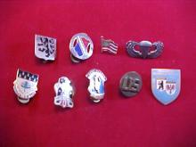 Lot of 9 Military Pins