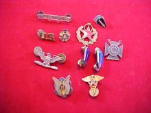 Lot of 11 Assorted Military Pins
