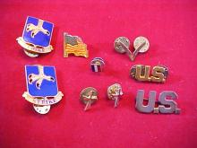 Lot of 9 Assorted Military Pins