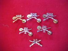 Lot of 6 Assorted Military Pins
