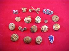 Lot of 18 Assorted Military Pins