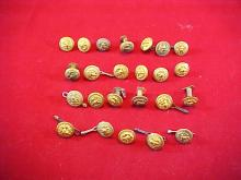 Lot of 24 Military Buttons
