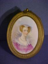 Brass French Portait on Porcelain