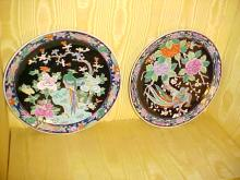 Pair of Handpainted Nippon Chargers