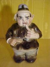 Keystone Cop Porcelain Tobacco Jar