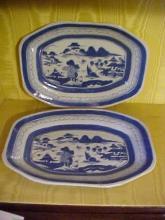 Pair of Oriental Canton Porcelain Planters