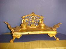 Bronze Dore Inkwell Tray