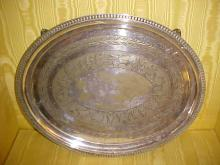 Silverplate RomanSoldiers and Chariot Pattern Serving Platter