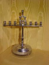Chrome music box Menorah