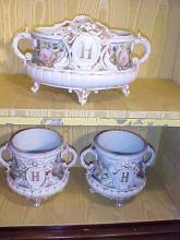 3 pc. Heavy Porcelain Planters