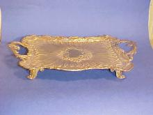 Bronze Dore Double Handled Decorated Tray