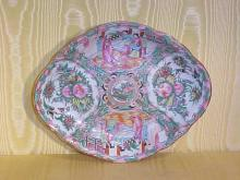 Chinese Export Rose Medallion Footed Food Dish