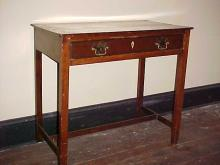 Early Banded Inlay Mahogany 1 Drawer Table