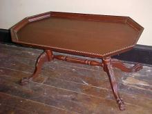 Mahogany Clawfoot Coffee Table