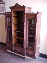 Walnut Victorian Bookcase