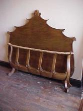Walnut Queen Size Ornate Bed