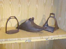 Lot of 3 Early Brass and Iron Stirrups
