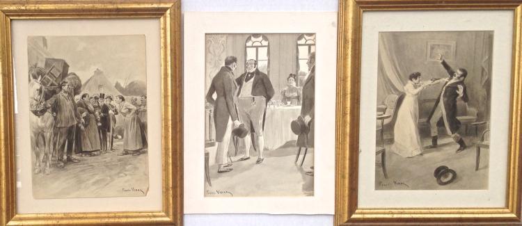 Pierre Vidal, Original Illustration Watercolors (3)