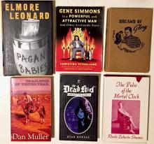 Hand-Signed 1st Edition Books & Original Drawings, Gene Simmons, Evan Munday, Elmore Leonard, S.George Benson, Janet Lambert & Rhoda Zahavie Shames