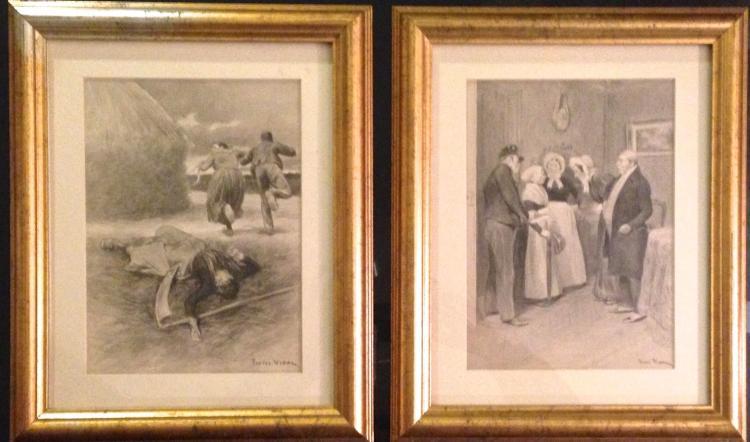 Pierre Vidal, Two Original Book Illustrations, 19th century