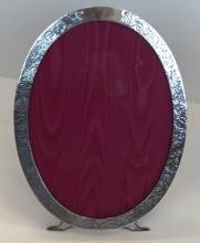 Sterling Silver Oval Picture Frame, C.1910 : 9.75
