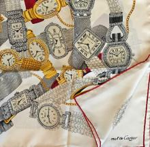 Cartier Watch Motif Silk Scarf:  35