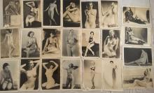 Erotic Nude Photography Collection. Semi-Clothed & Nude, Circa 1940's