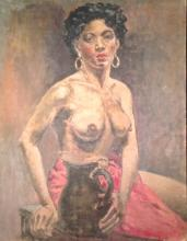 Southern School Painting, African American Woman, Early 20th Century