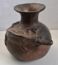 Effigy Crocodile Pottery Vessel